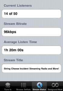 SCI Radio Server Status