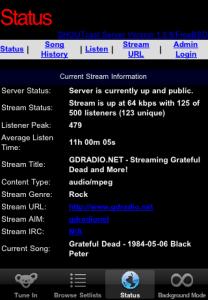 GDRadio Server Status